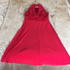 Sexy red Evan-Picone cocktail dress; size 10